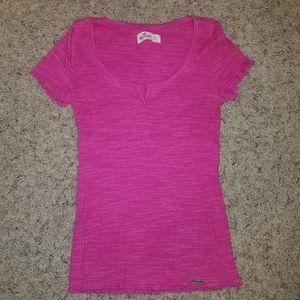 Hollister Pink Short Sleeve Shirt